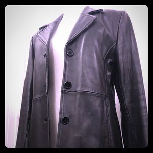 Smooth soft leather blazer